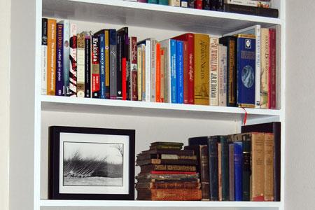 Two reorganized shelves