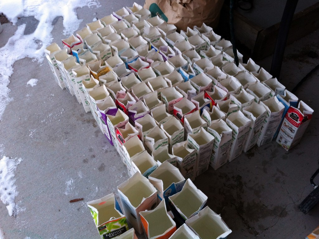 Over 100 milk cartons collected.