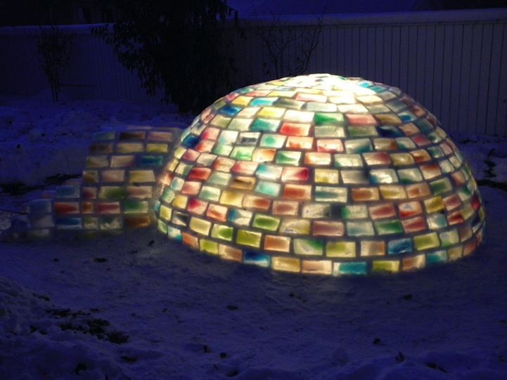 Rainbow Igloo picture posted by Aunt Alli last year.