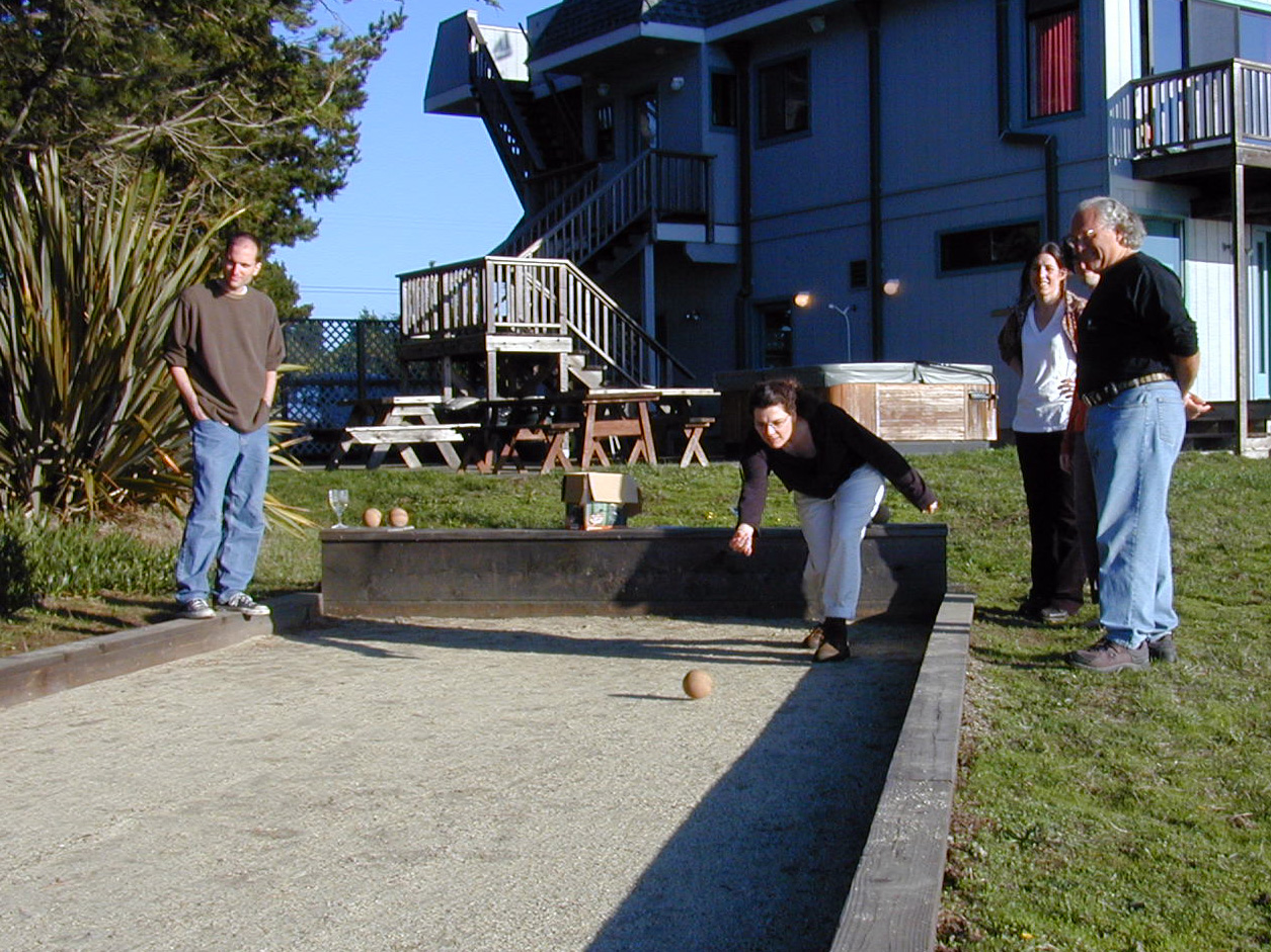 2002 - bocce court with the house and hot tub in the background