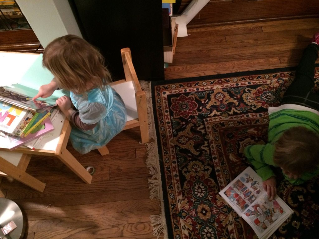 Quiet reading before dinner? Yup.