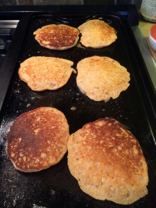 Oatmeal Buttermilk Pancades