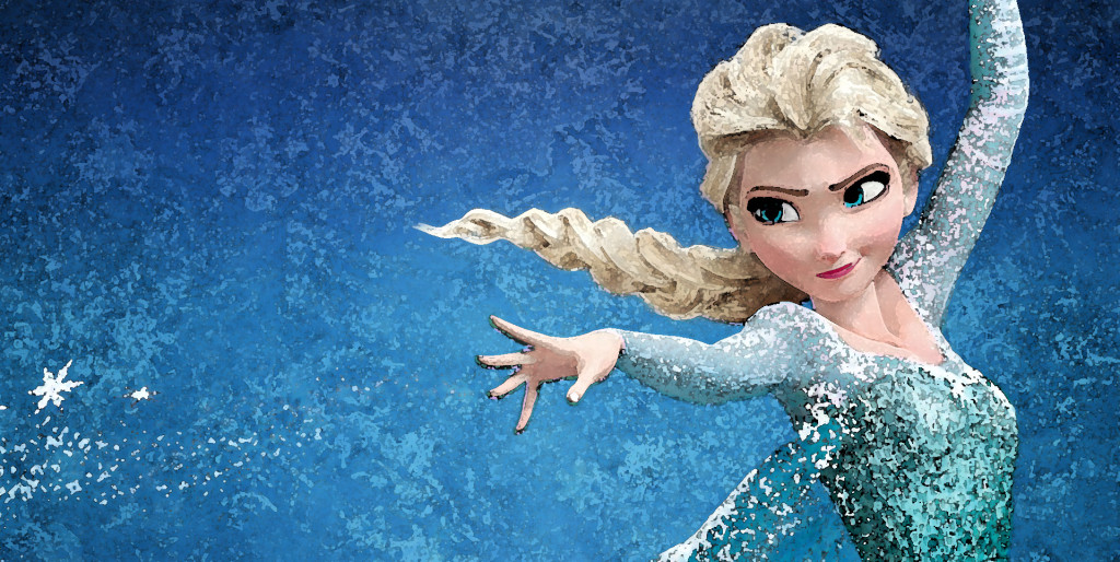 Maggie's library would be dedicated to Frozen, decorated with pictures of Elsa.