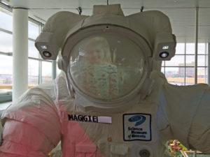 Maggie, future astronaut.