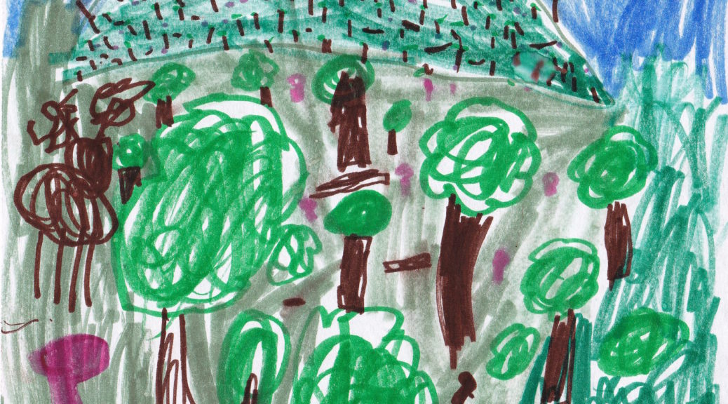 Griffin: Draw a forest at night.